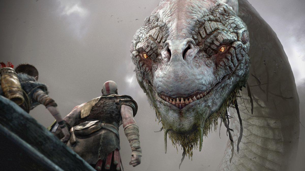 God of War - Kratos and Atreus meet the World Serpent