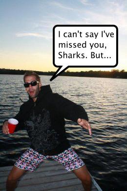 Winnik missed the Sharks