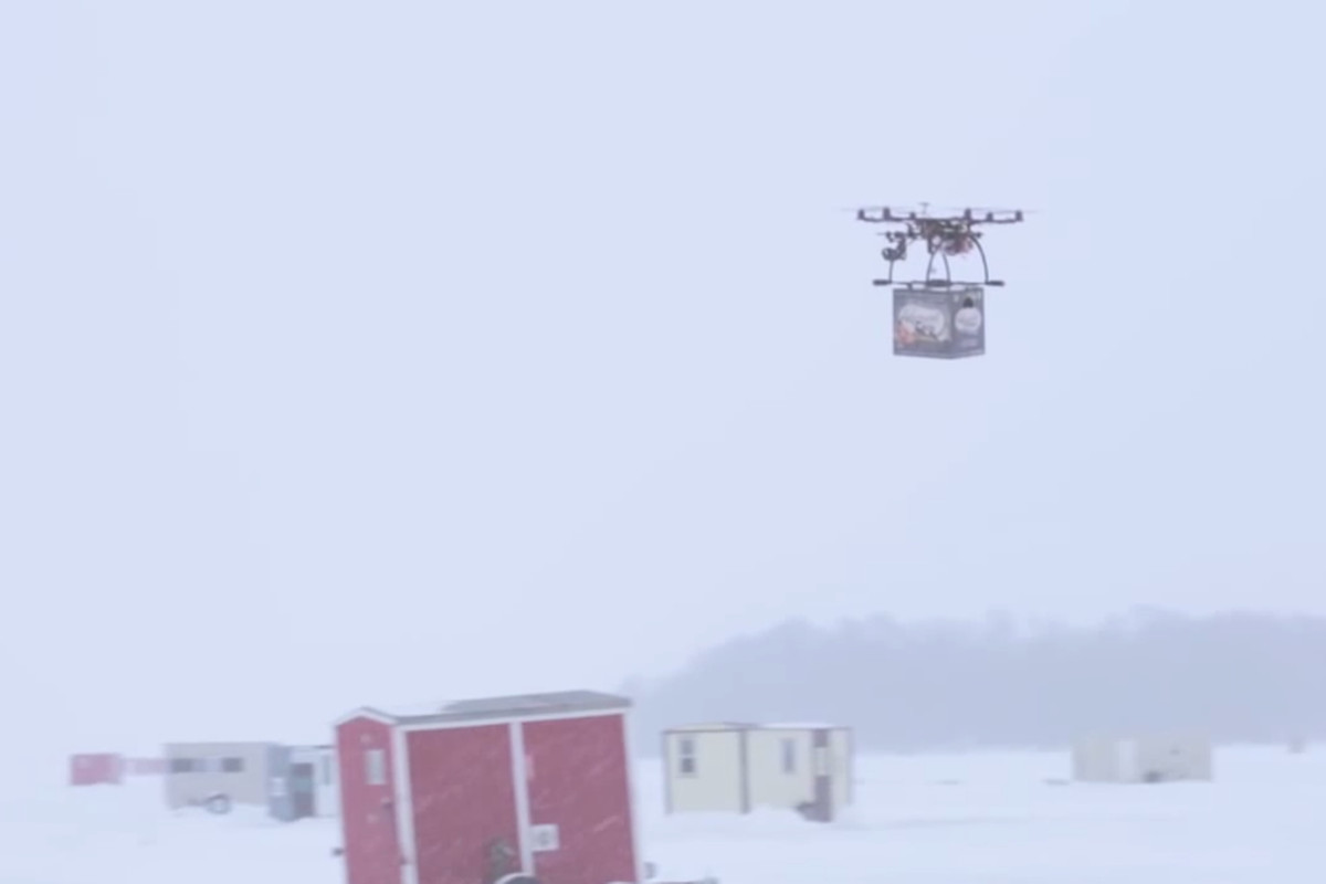 Beer delivery by drone