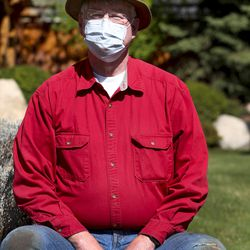 Dr. Dan Thomas, an anesthesiologist who is currently out of work because elective medical procedures have been canceled due to the coronavirus outbreak, at his home in Provo on Monday, April 20, 2020.