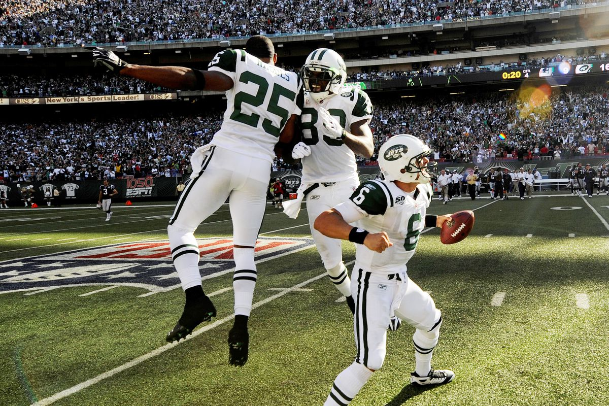 New York Jets against the New England Patriots at Giants Sta