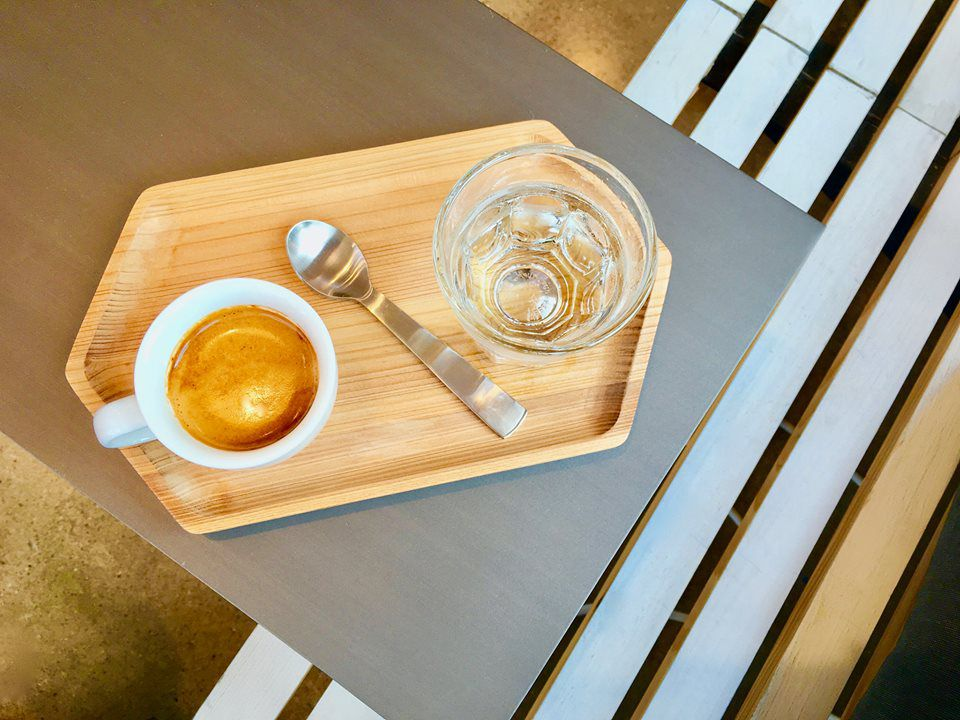 Espresso and sparkling water from Greater Goods