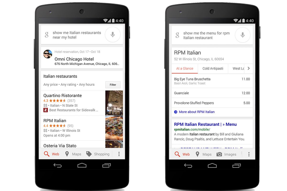 Google Integrates OpenTable Into Mobile App Eater - Table reservation app