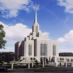 Rendering of what the renovated Ogden Temple will look like when completed.  Elder William R. Walker of the First Quorum of the Seventy announced a major renovation on the Ogden Temple of the Church of Jesus Christ of Latter-day Saints.  Wednesday, Feb. 17, 2010  Rendering by Intellectual Reserve, Inc.