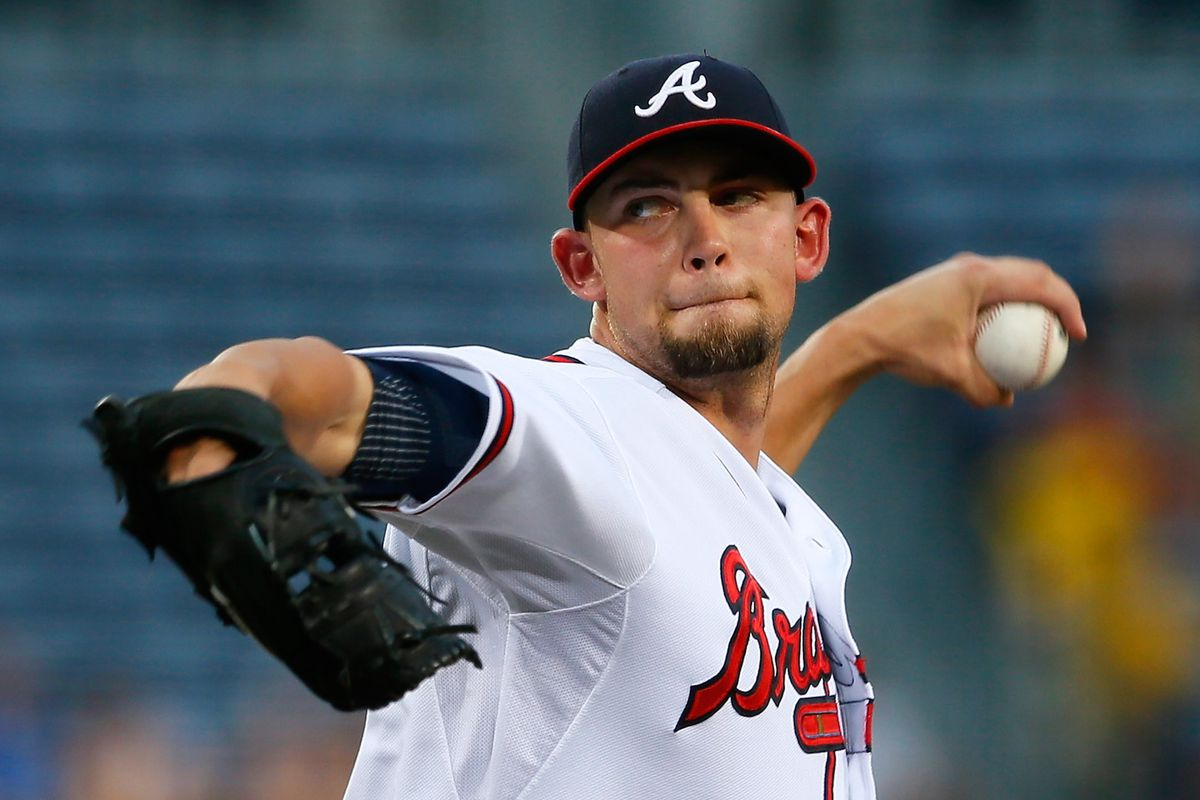 ATLANTA, GA - SEPTEMBER 05:  Mike Minor #36 of the Atlanta Braves pitches to the Colorado Rockies at Turner Field on September 5, 2012 in Atlanta, Georgia.  (Photo by Kevin C. Cox/Getty Images)