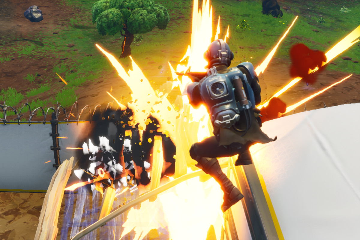 Fortnite - an explosion
