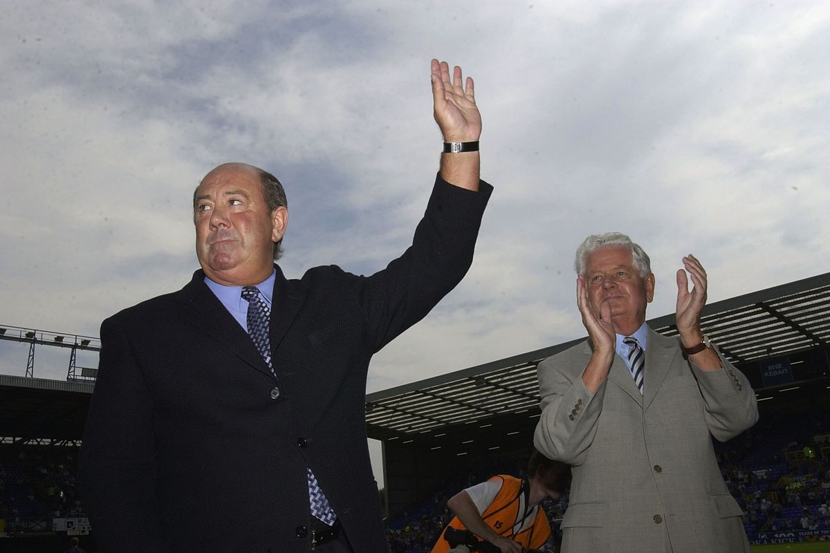 Howard Kendall seen here with Sir Philip Carter