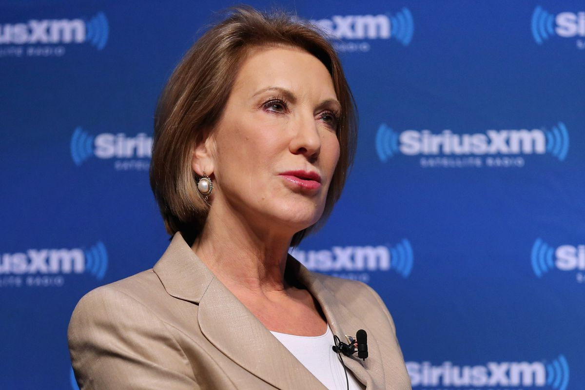 Fiorina during better days for her candidacy.