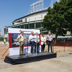 Another view showing how close this project is to the ballpark. This podium is right in front of where 7-Eleven's front door used to be -
