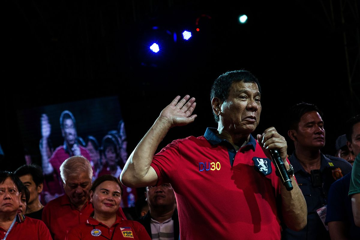 Philippines Presidential Candidates Final Campaign Rally In Manila
