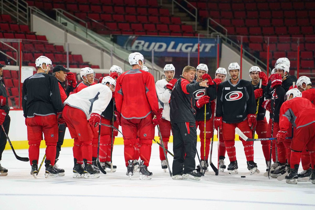 Bill Peters with instruction during camp