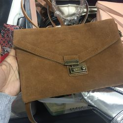 Small suede bag, $63