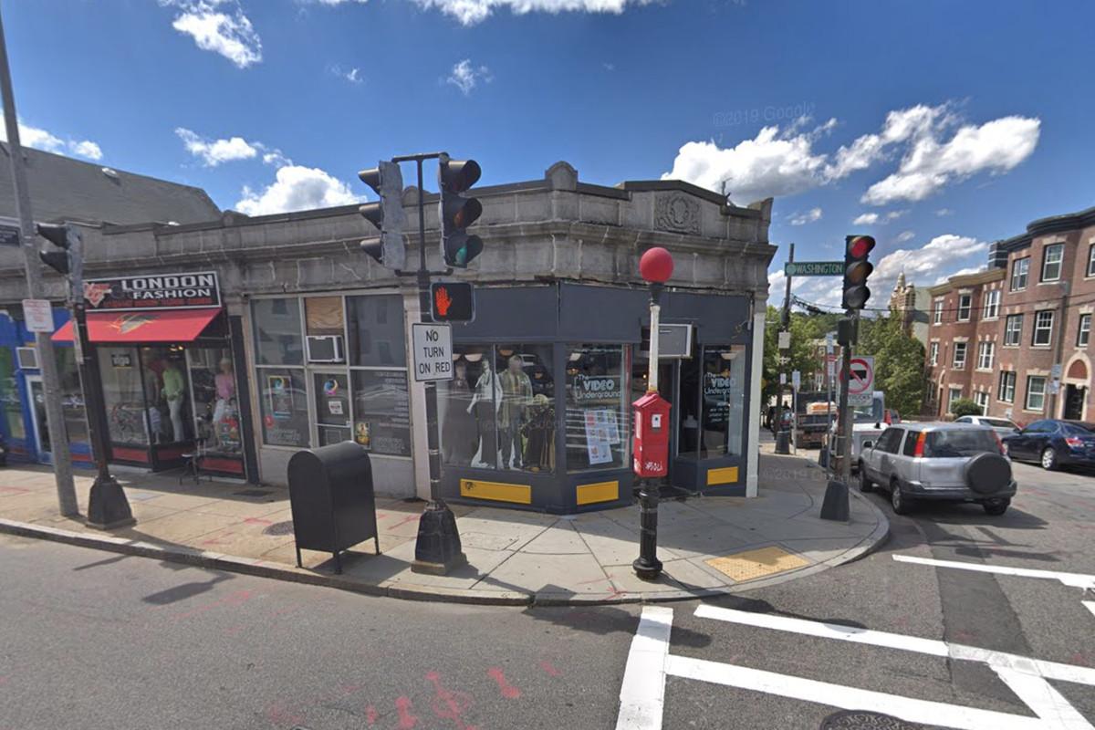 The facade of the Video Underground on Washington Street in Jamaica Plain