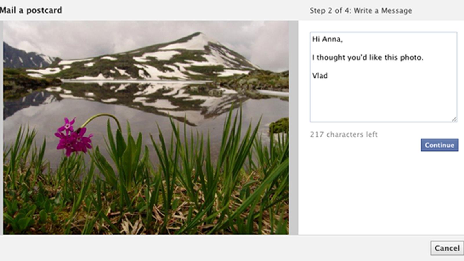 Как посылать открытки в фейсбук