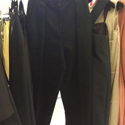 Wool trousers, $390