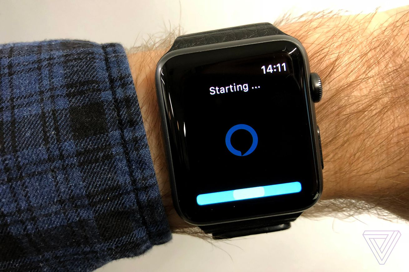 Alexa on an Apple Watch