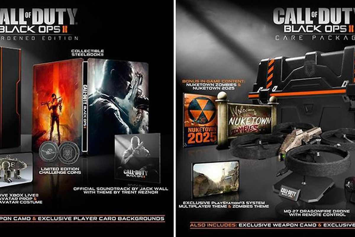 call of duty  black ops 2 hardened and care package editions announced