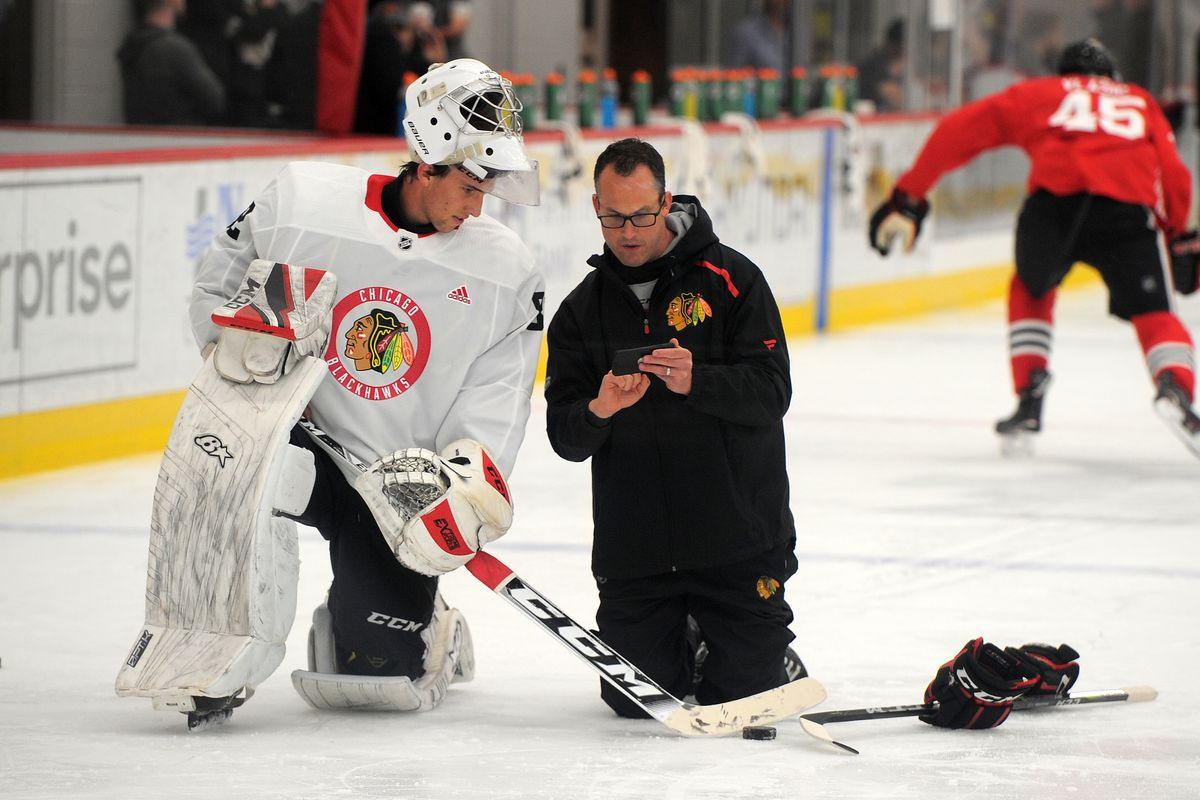 A Team Into peter aubry is making the blackhawks' goaltending pipeline a