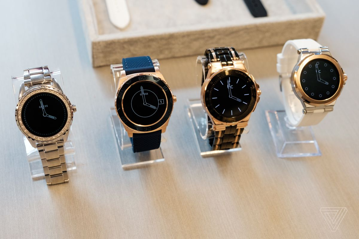 8df621910fdb Guess Android Wear smartwatches. Photo by Dan Seifert   The Verge