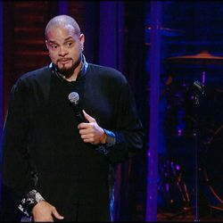 """Sinbad in his new stand-up comedy concert """"Make Me Wanna Holla,"""" now on DVD."""