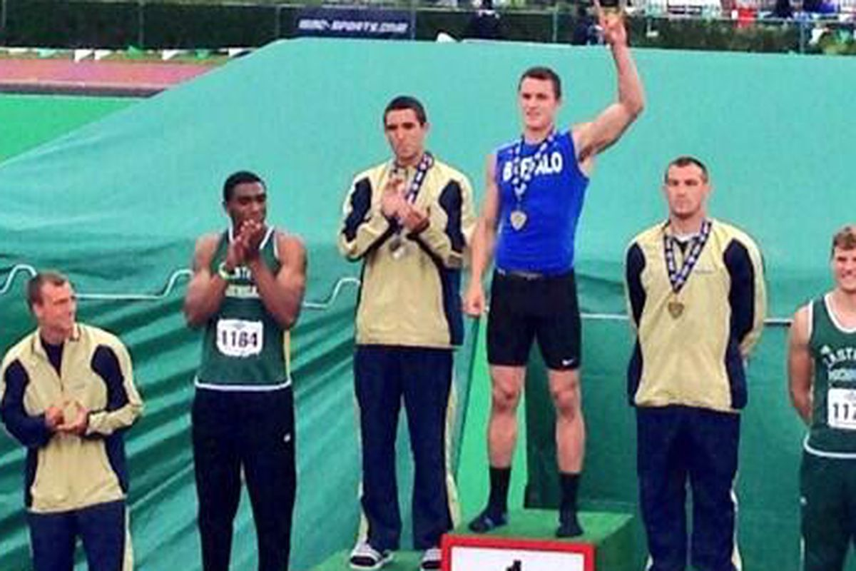 Mike Morgan brought home the decathlon crown for UB on Day 2 of the MAC Championships