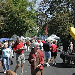 People flood the street during the Avenues Street Fair years past. Volunteers from the Avenues area work throughout the spring and summer each year to make it all happen.