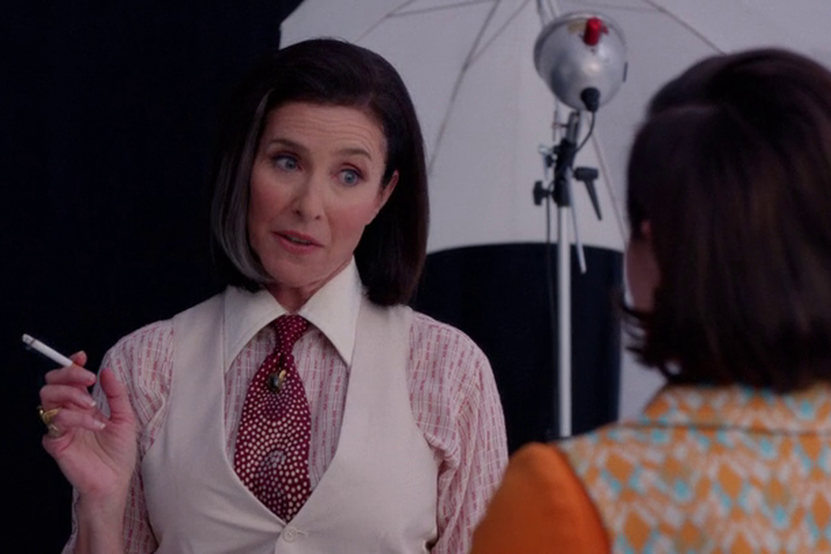 Look out, everybody! It's Pima (Mimi Rogers)! Starring in Pima! This fall on AMC.