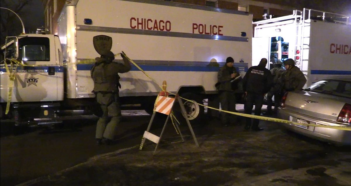 SWAT teams responded to a barricade situation late Wednesday on the West Side. | Network Video Productions