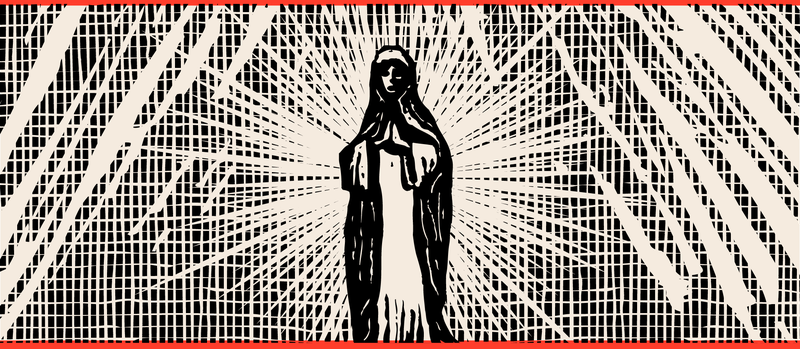 Illustration of the Virgin Mary.
