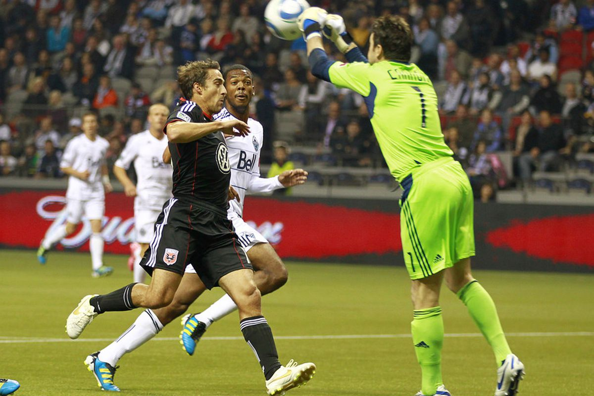 D.C. United couldn't find a goal when they needed it against the Vancouver Whitecaps