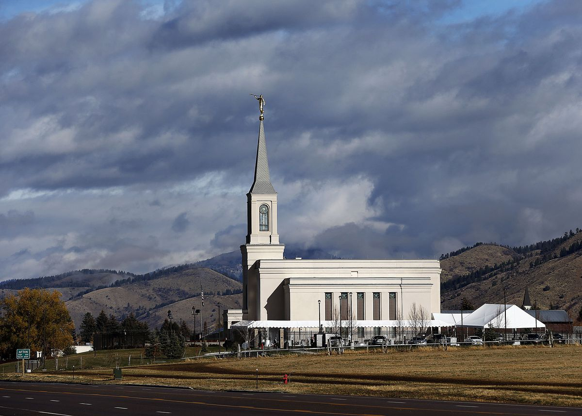 The Star Valley Wyoming Temple in Afton, Wyoming on Saturday, Oct. 29, 2016. A second temple in Wyoming will be built in Casper.