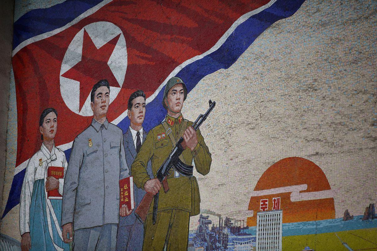 A North Korean mural in Pyongyang (Feng Li/Getty Images)