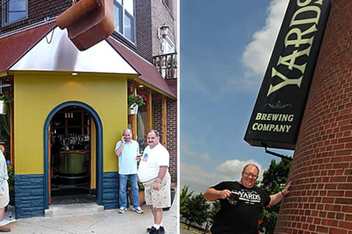 American Sardine Bar (left), Smoke 'Em back at Yards (right)