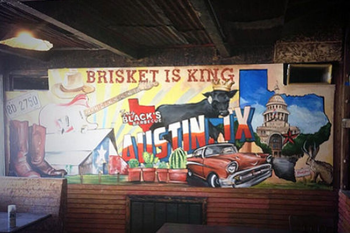Inside Terry Black's Barbecue.