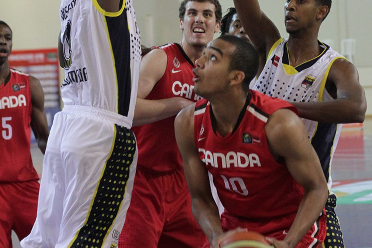 Trey Lyles in the Red and White = best things so far this summer. (Photo courtesy of FIBA.)
