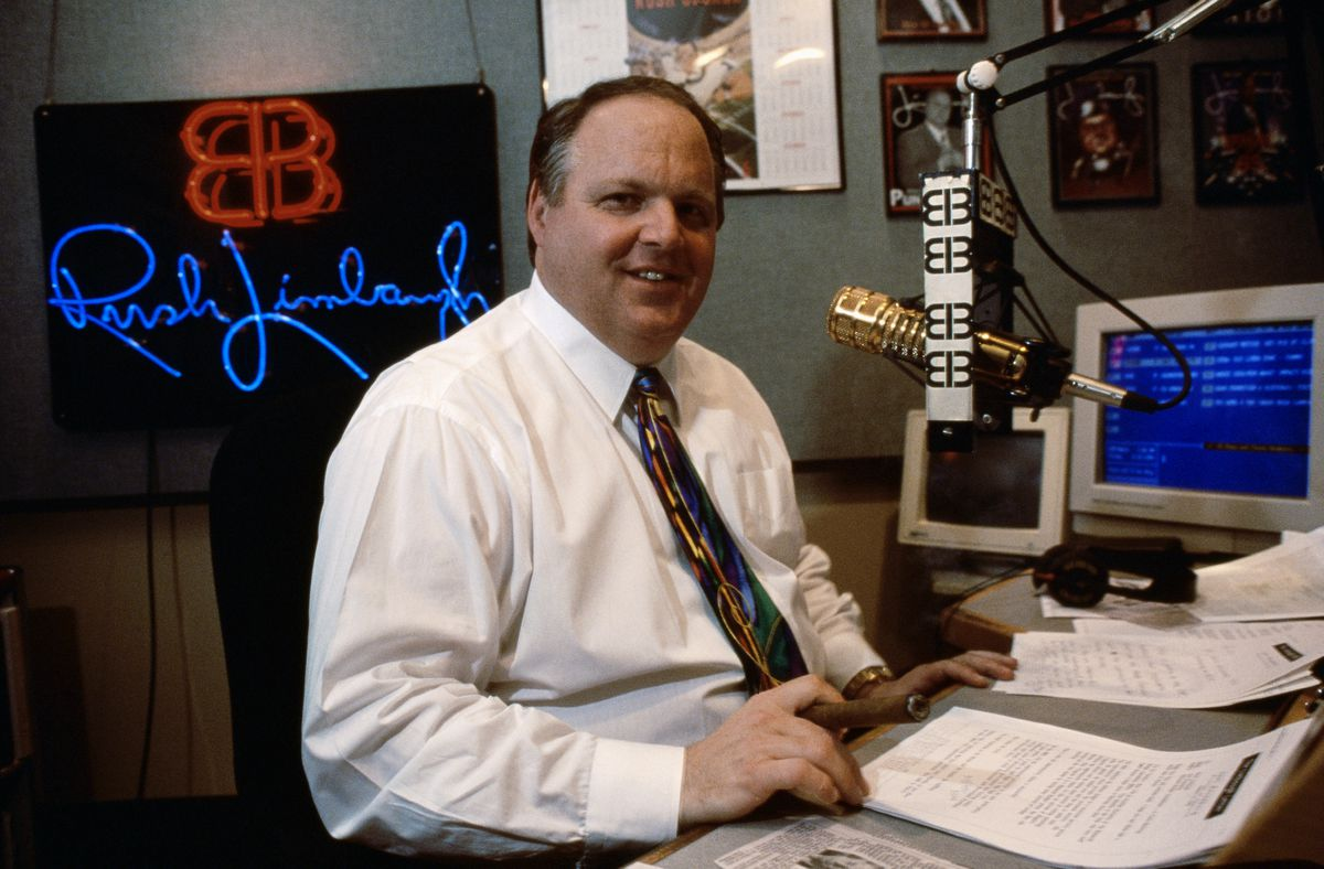 Rush Limbaugh, in 1995. Before founding Fox, Ailes produced The Rush Limbaugh Show, which brought new volume and provocation to conservative radio.