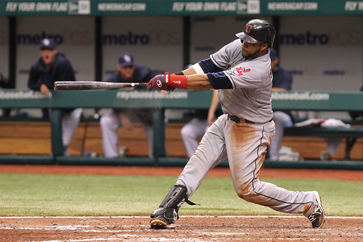 Carlos Santana went 5-5 in yesterday's 13-0 victory.