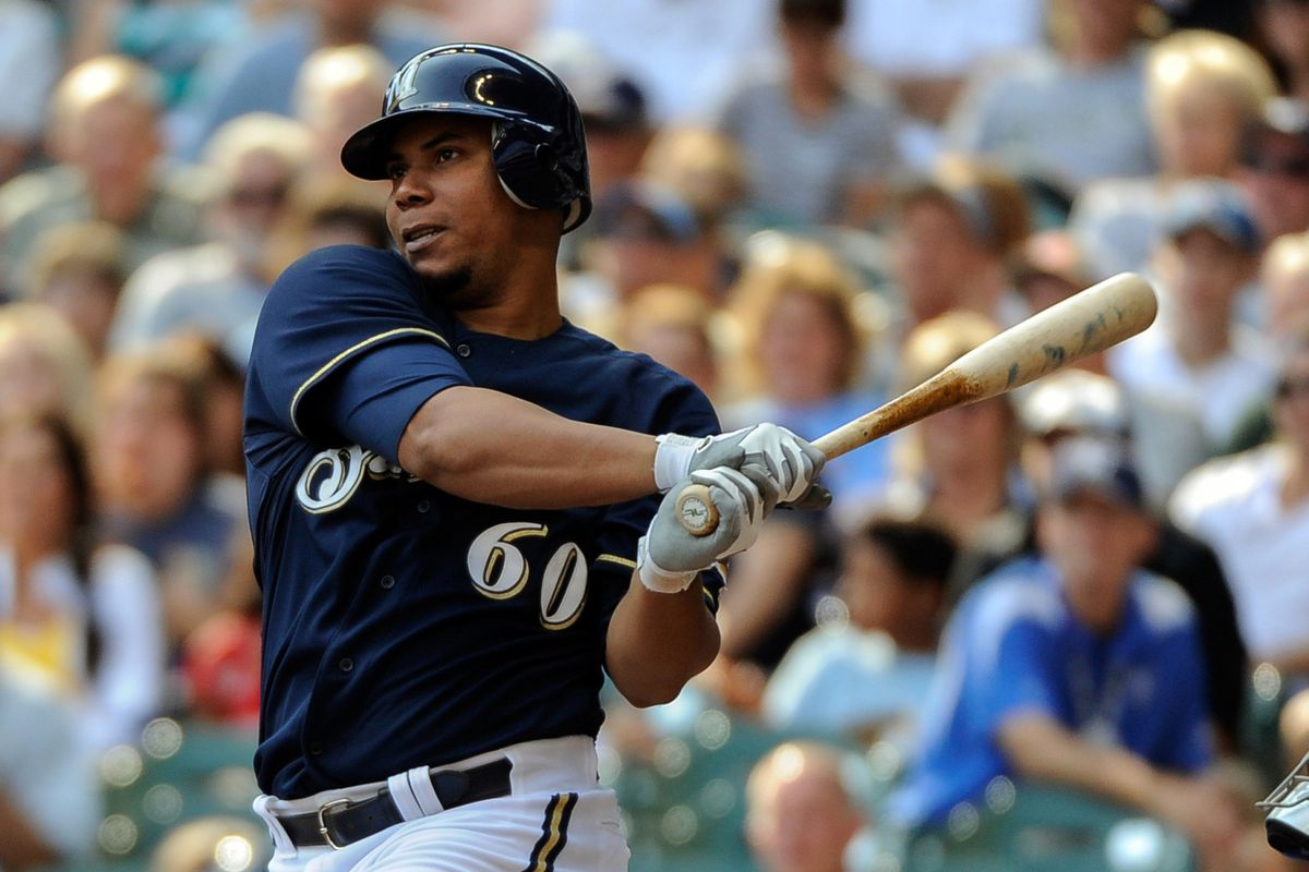 Wily Peralta hits a double