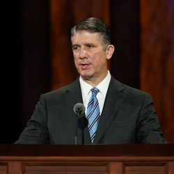 Elder Matthew S. Holland, General Authority Seventy, speaks during the Saturday afternoon session of the 190th Semiannual General Conference of The Church of Jesus Christ of Latter-day Saints on Oct. 3, 2020.