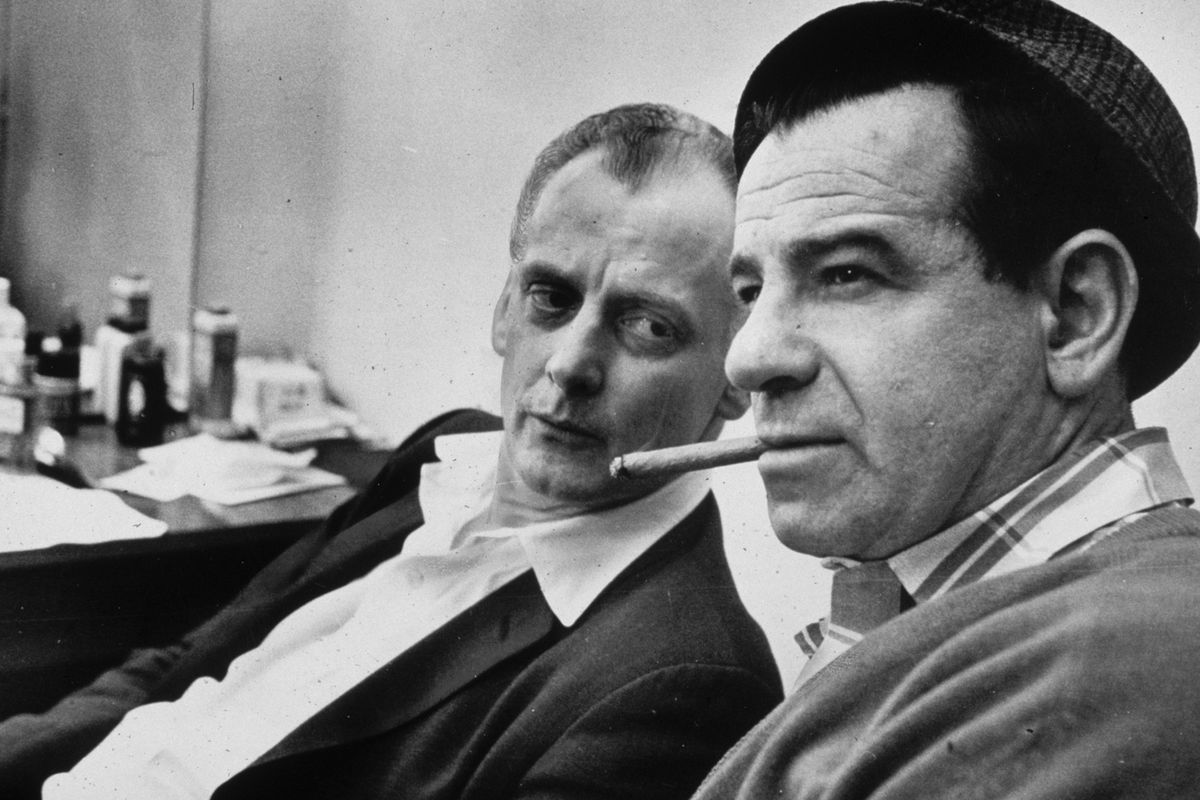 Carney and Matthau in The Odd Couple.