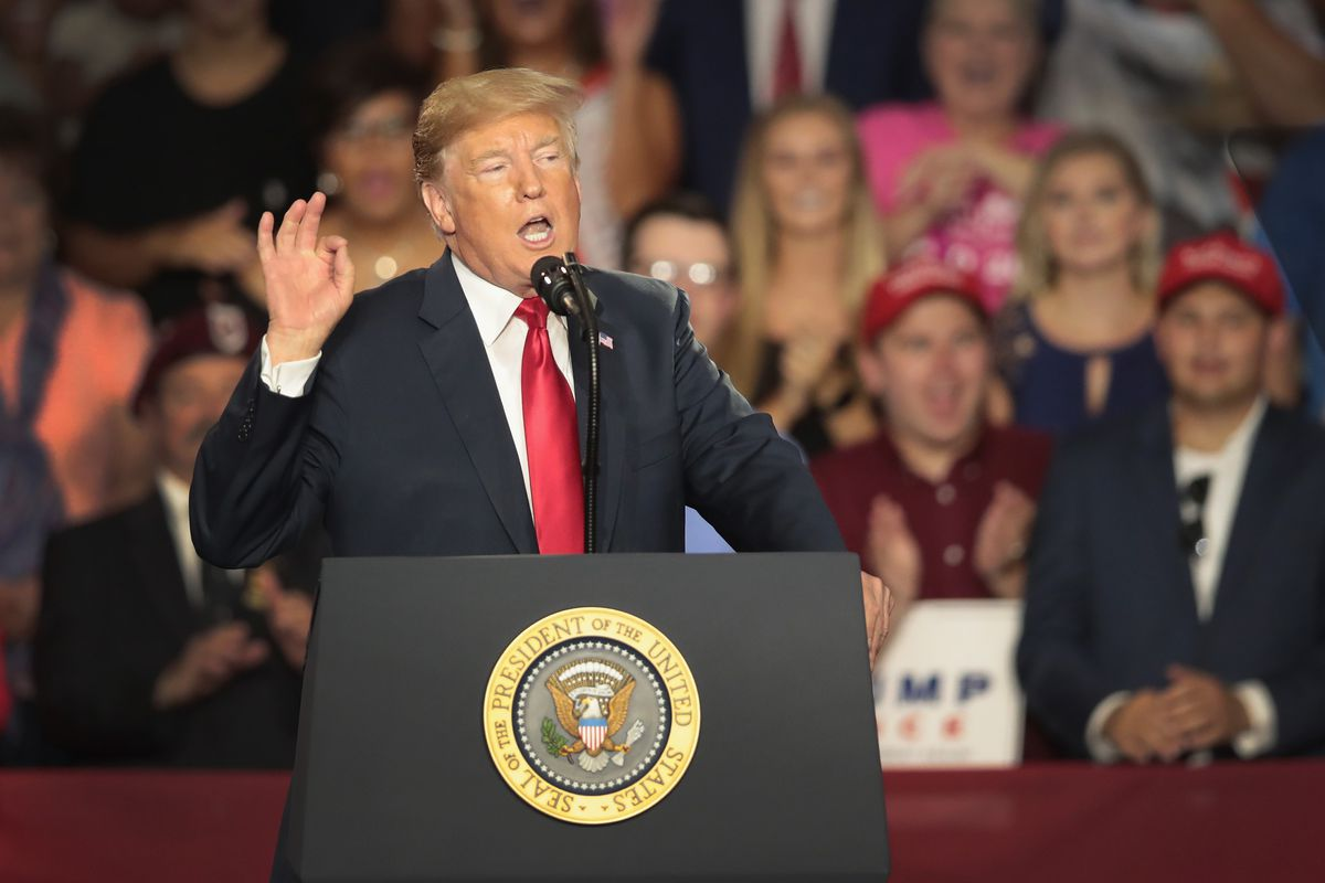Donald Trump Holds Rally, Campaigns For Troy Balderson, In Ohio