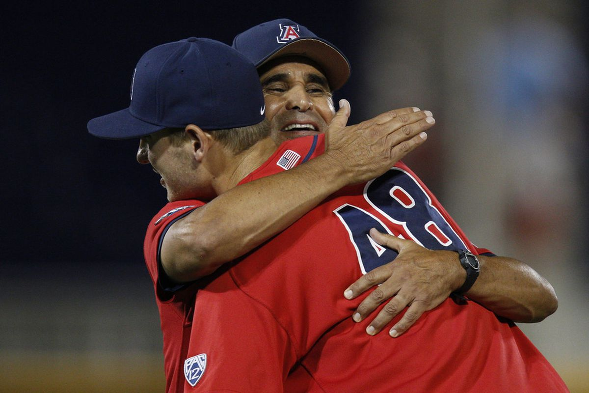 Andy Lopez hugs Konner Wade