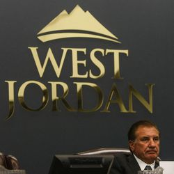 Mayor Kim Rolfe listens to a member of the community during a City Council meeting at West Jordan City Hall on Wednesday, Aug. 10, 2016.