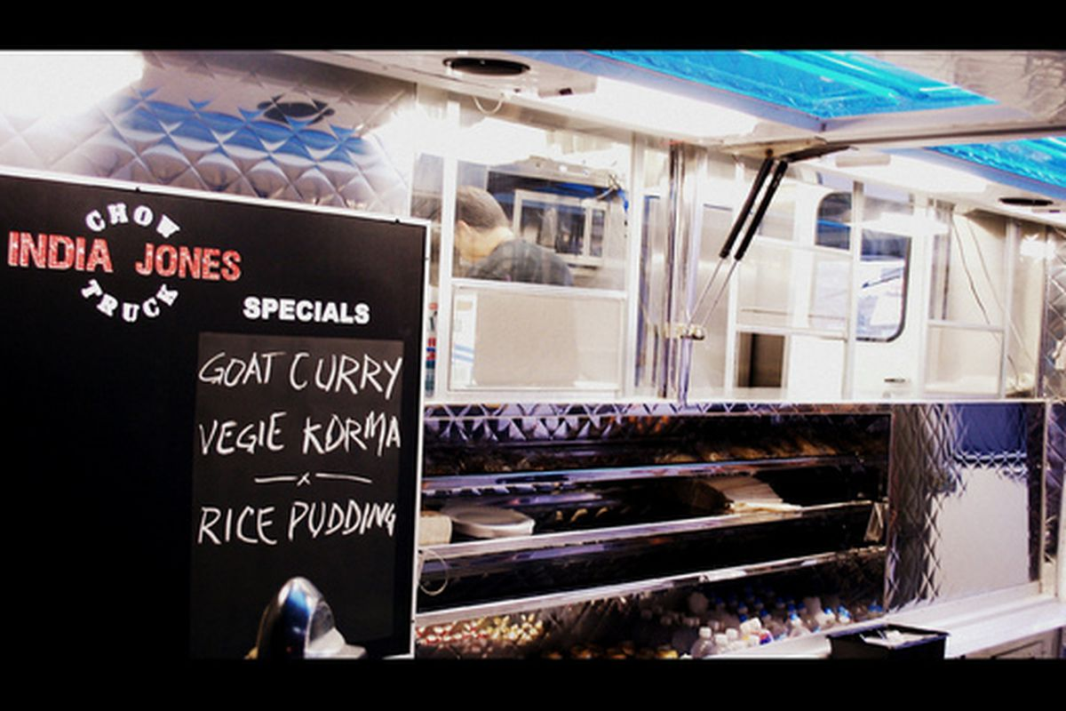Quick Indian eats from India Jones Chow Truck.