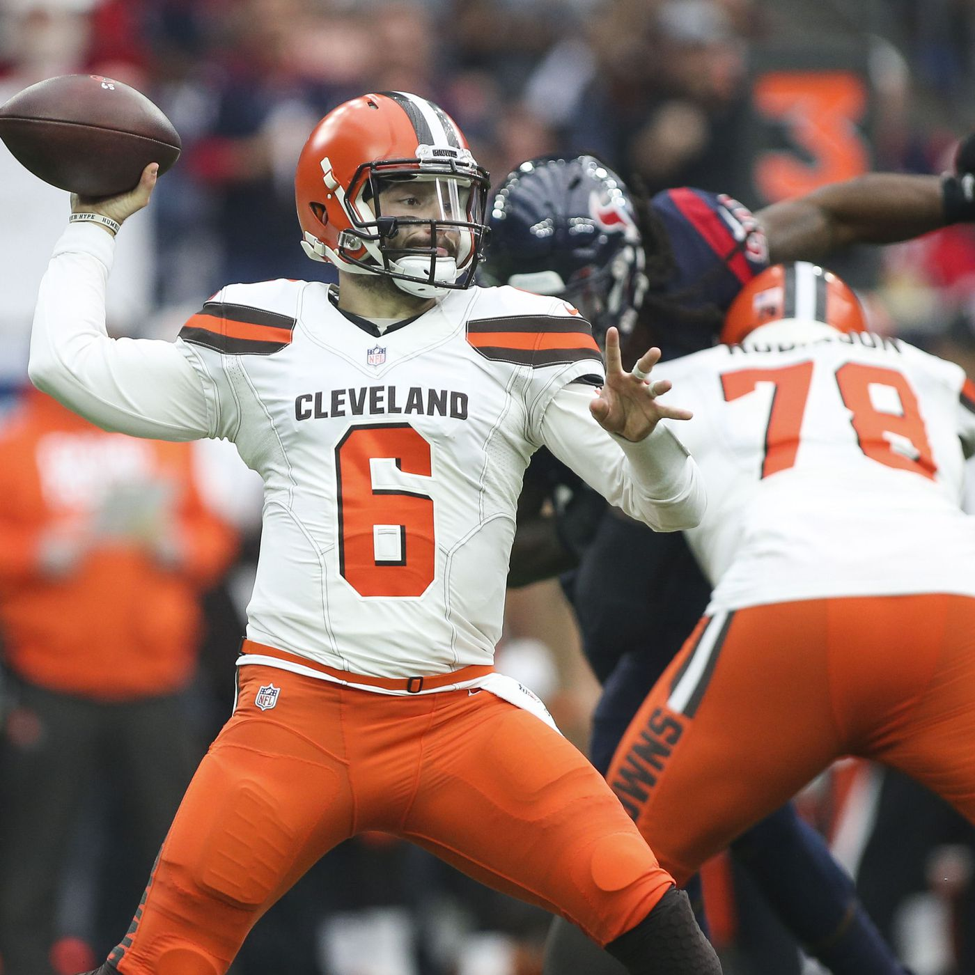detailed look af99b a2c44 Cleveland Browns: Baker Mayfield on board with new uniforms ...
