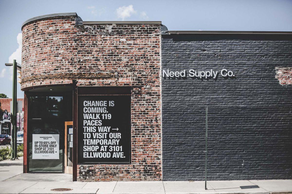 The exterior of Need Supply in Richmond, VA