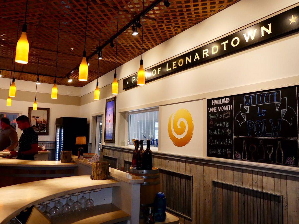 The tasting room at Port of Leonardtown