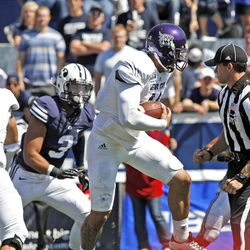 Weber State Wildcats quarterback Mike Hoke (11) during the first half as Brigham Young University plays Weber State University in football  Saturday, Sept. 8, 2012, in Provo, Utah.