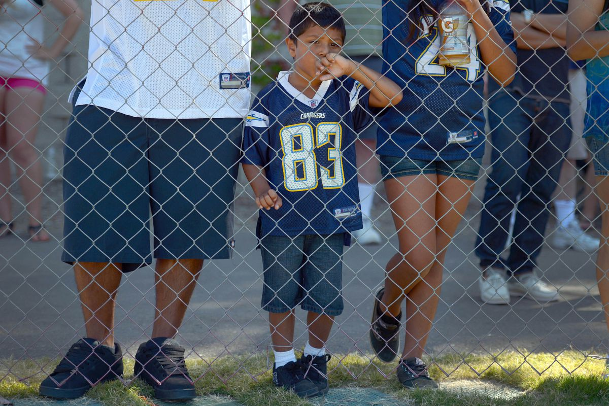 This little guy has probably never even seen a game at Qualcomm Stadium.
