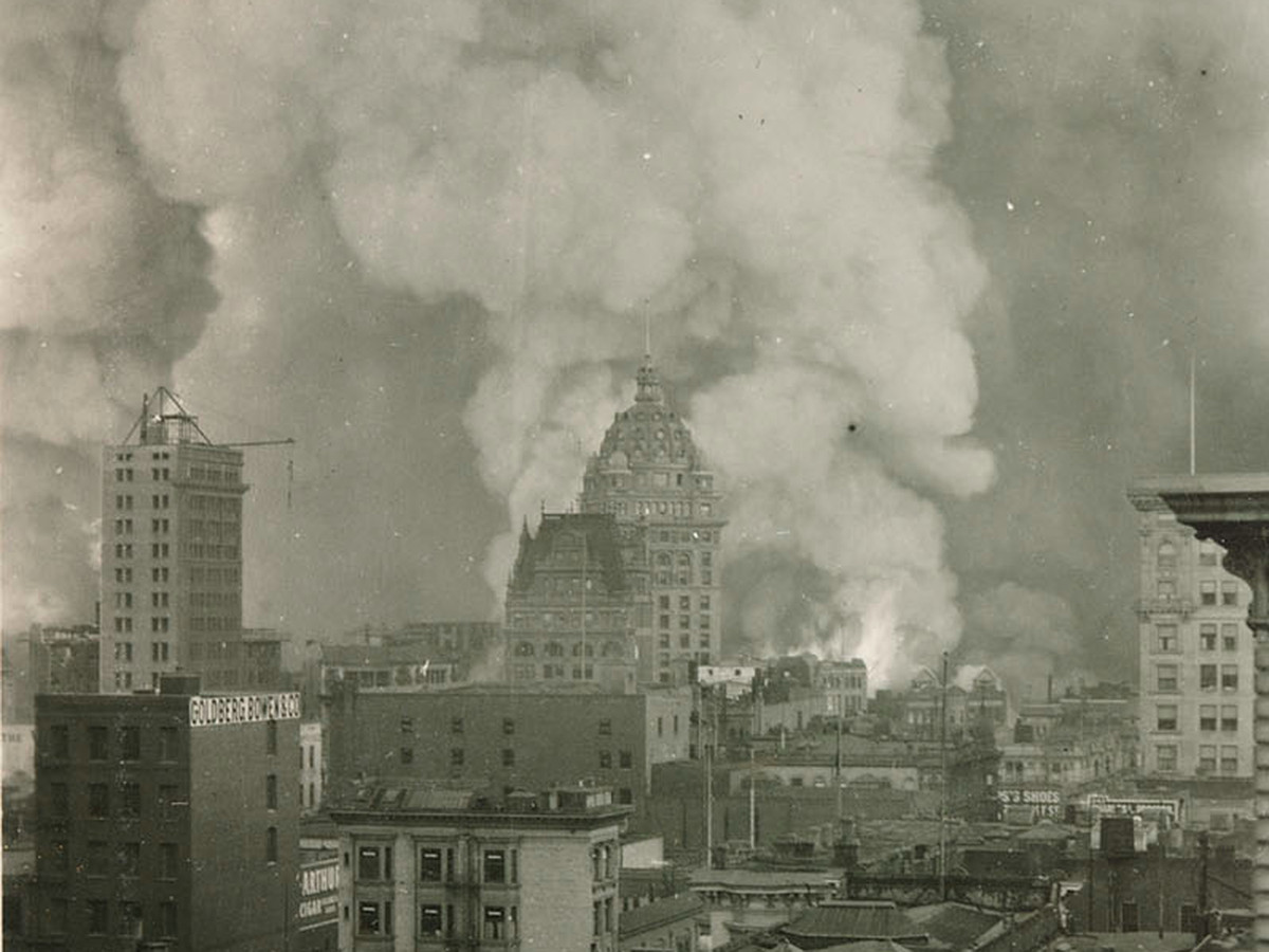 Photos: San Francisco great earthquake and fire of 1906 ... on union square san francisco ca map, san francisco hotels civic center map, union square shopping map,